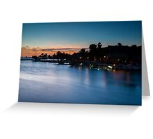 Beach bar after sunset Greeting Card
