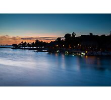 Beach bar after sunset Photographic Print
