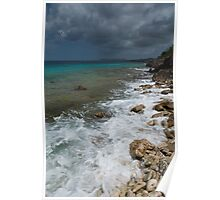 Dark clouds in Bonaire Poster