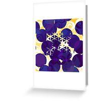 Blue retro style Greeting Card