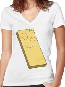 Plank Women's Fitted V-Neck T-Shirt