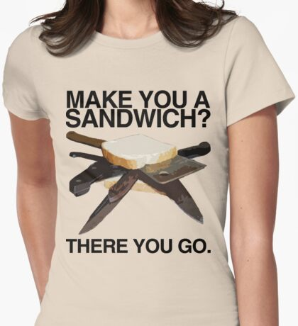 Sandwich I Womens Fitted T-Shirt