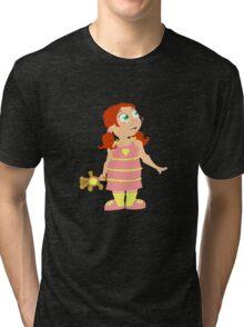 Night Gown Girl Tri-blend T-Shirt