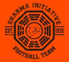 Dharma Initiative Football Team (Black Ver.) Kids Tee