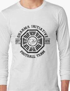 Dharma Initiative Football Team (Black Ver.) Long Sleeve T-Shirt