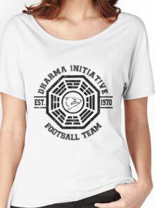 Dharma Initiative Football Team (Black Ver.) Women's Relaxed Fit T-Shirt