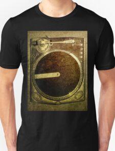Grunge Dj Turntable Art Unisex T-Shirt