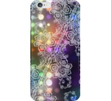 White Lace on Neon Lights Abstract iPhone Case/Skin