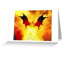Into The Flames Greeting Card
