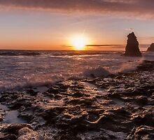 Sunset at Davenport - California by Richard Thelen
