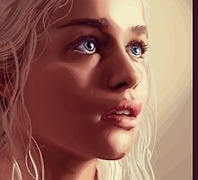 Daenerys Targaryen iPhone Case by Tyler Coare