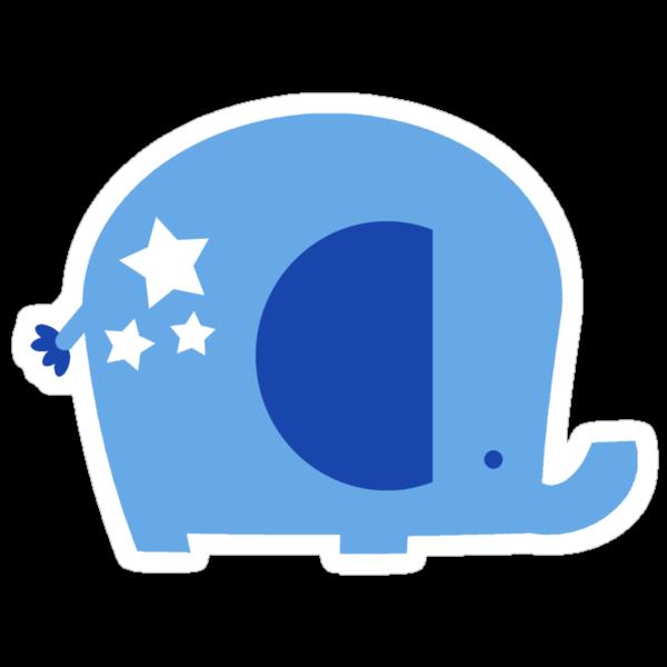 Blue Star Elephant by SaradaBoru