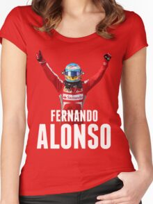 Fernando Alonso - Ferrari - Victory Women's Fitted Scoop T-Shirt