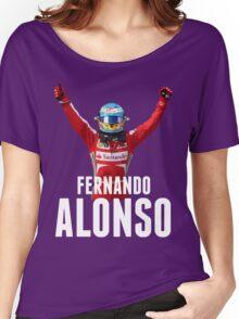 Fernando Alonso - Ferrari - Victory Women's Relaxed Fit T-Shirt