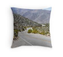 Mountain Road to The Anza Borrego Desert Throw Pillow