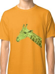 Green Neon Giraffe Classic T-Shirt