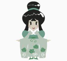 Green Kimono Girl Kids Clothes