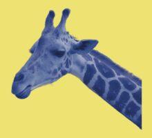 Blue Neon Giraffe by ExistenceIF