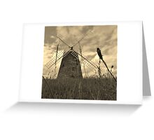 Windmill in Sepia Greeting Card