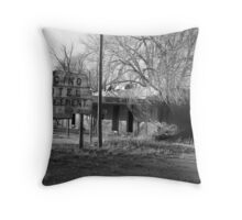 Encino Motel - Encino, New Mexico Throw Pillow