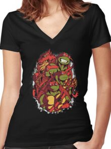 The Green Team Women's Fitted V-Neck T-Shirt