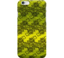 Black Lace Over Yellow Waves iPhone Case/Skin