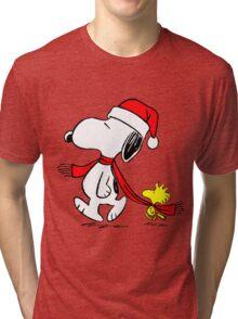 Christmas Snoopy Tri-blend T-Shirt