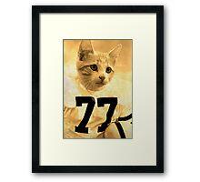 Baseball Cat Framed Print