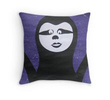 Goth Sloth- - collage with math books- rhymes for kids Throw Pillow