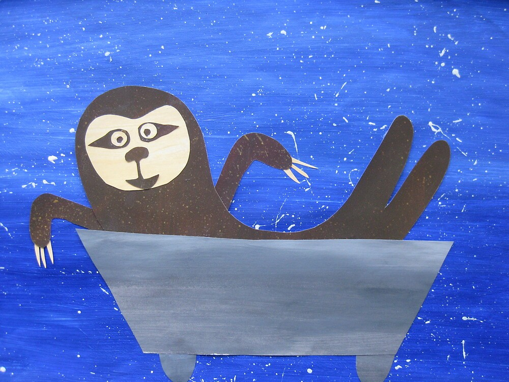 Sloth in a trough by cathyjacobs