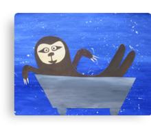 Sloth in a trough Canvas Print