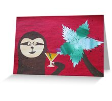 Sloth takes a Day Off- collage with math books- rhymes for kids Greeting Card