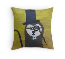 Toff Sloth- Animal Rhymes - created from recycled math books Throw Pillow