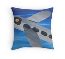 Sloth Takes Off- collage with math books- rhymes for kids Throw Pillow