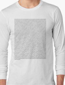Binary SHirt Long Sleeve T-Shirt