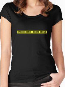 Crime Scene Tape Women's Fitted Scoop T-Shirt