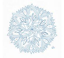 Spring Stars Mandala Photographic Print