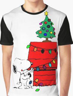 Snoopy Christmas Tree Graphic T-Shirt