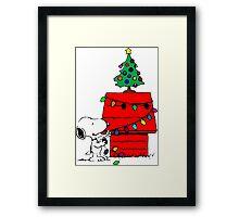 Snoopy Christmas Tree Framed Print