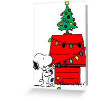 Snoopy Christmas Tree Greeting Card