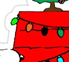 Snoopy Christmas Tree Sticker
