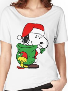 Snoopy Santa Claus Women's Relaxed Fit T-Shirt