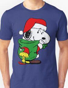 Snoopy Santa Claus Unisex T-Shirt