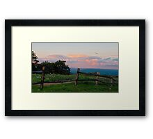 Evening Twilight Fades Framed Print