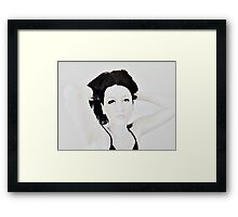 Calligraphic ink Framed Print