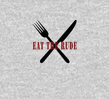 Eat The Rude (Black) Womens Fitted T-Shirt