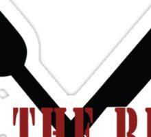 Eat The Rude (Black) Sticker