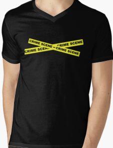Crime Scene Tape Mens V-Neck T-Shirt