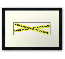 Crime Scene - Do Not Cross Framed Print