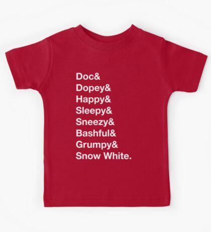 Helvetica Dwarfs Kids Tee